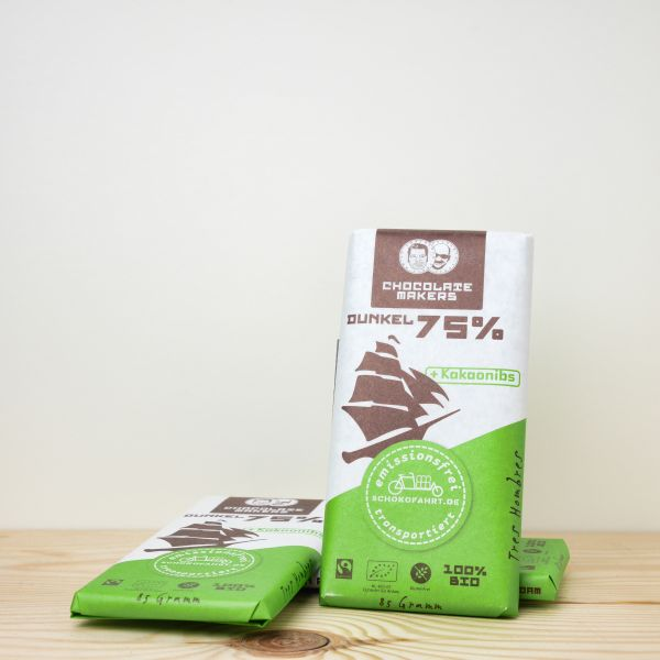 Chocolate Makers Tres Hombres Schokofahrt Tafel dunkel 75% 85g