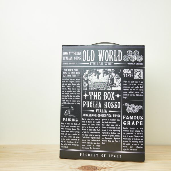 Old World – Puglia I.G.T. Vino Rosso BiB 3l_